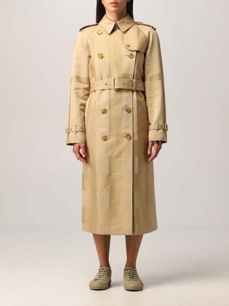 Burberry trench coat in cotton gabardine with tartan motif