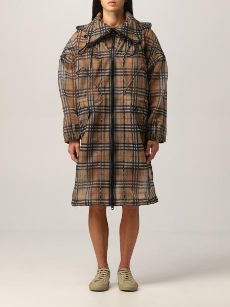 Cowbit Burberry parka in mesh fabric with vintage check pattern