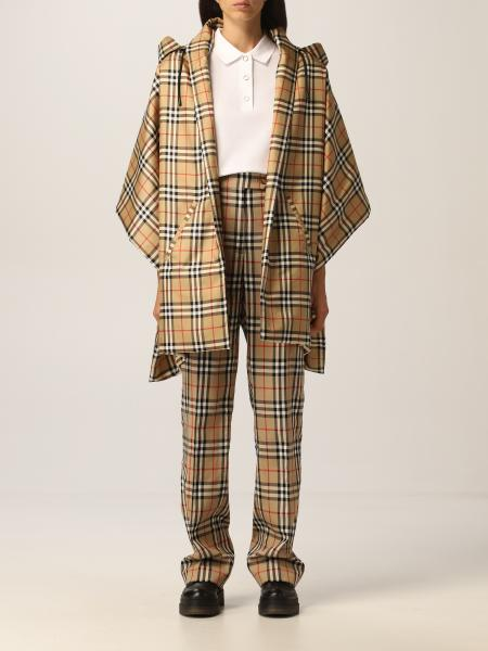 Burberry cape in silk with vintage check motif
