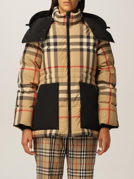 Burberry jacket with vintage check pattern