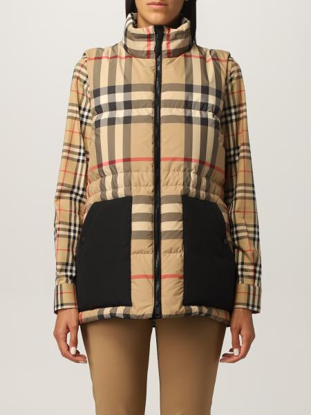 Burberry vest with vintage check pattern