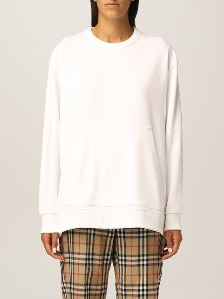 Burberry cotton jumper with check pattern
