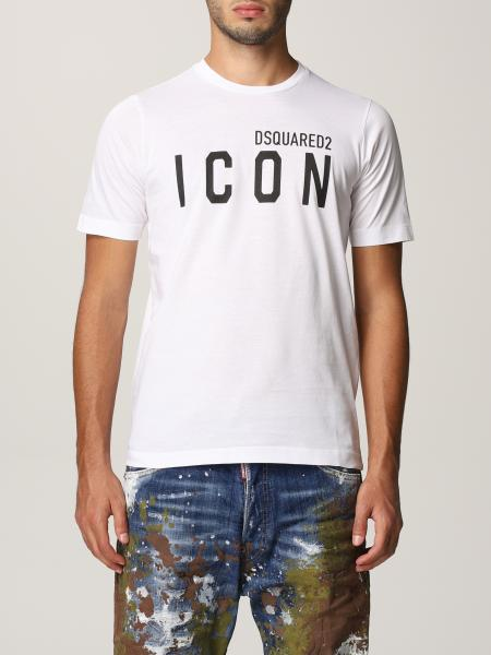 Dsquared2 女士: Dsquared2 Icon Logo 棉质 T 恤