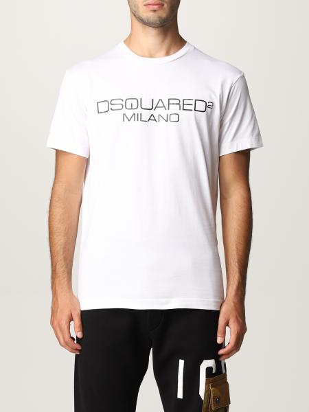 Dsquared2 uomo: T-shirt Dsquared2 in cotone con stampa logo