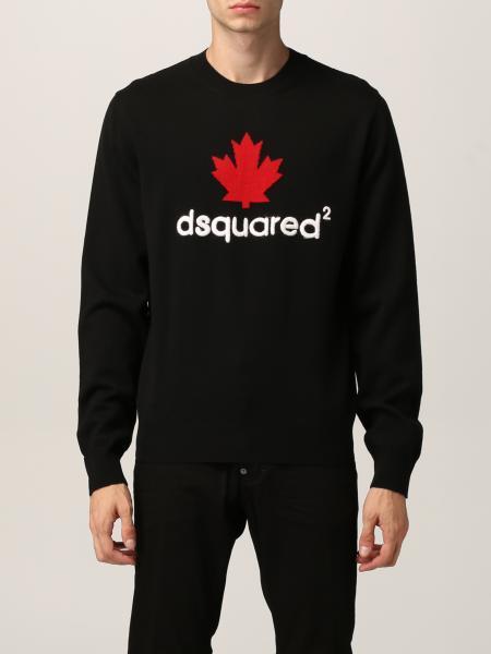 Dsquared2 uomo: Maglia Dsquared2 in lana con logo