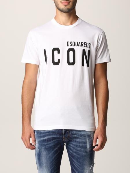 Dsquared2 uomo: T-shirt Dsquared2 in cotone con logo Icon