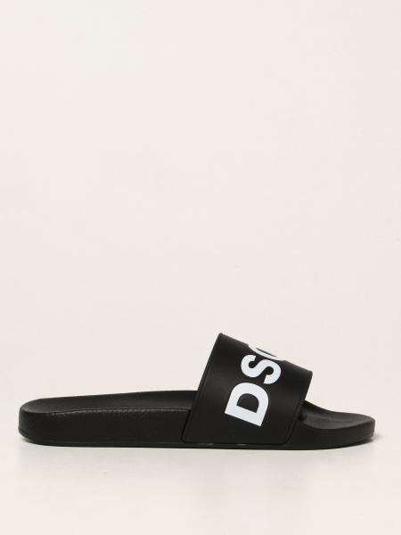 Sandalo a ciabatta Dsquared2 in gomma con logo