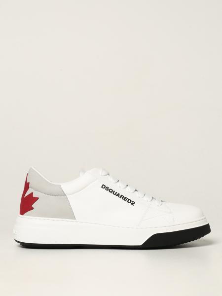 Dsquared2 uomo: Sneakers Bumper Dsquared2 in pelle