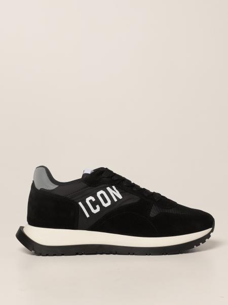 Sneakers Running Dsquared2 in camoscio e nylon