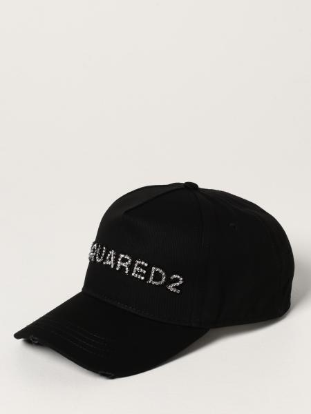 Cappello da baseball Dsquared2 con logo di strass