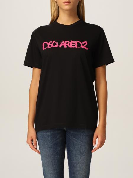 Dsquared2 女士: Dsquared2 Logo 棉质 T 恤