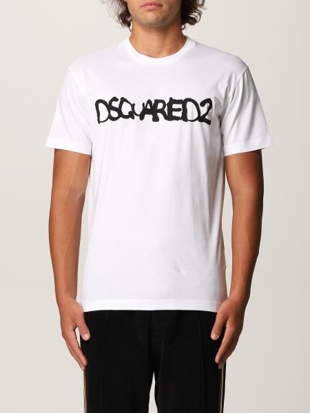 Dsquared2 uomo: T-shirt Dsquared2 in cotone con logo