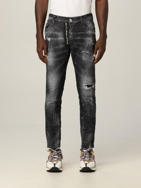 Dsquared2 uomo: Jeans Dsquared2 in denim washed