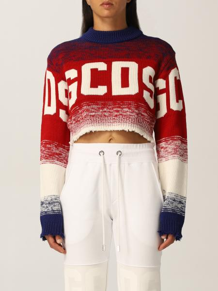 Gcds women: Gcds cropped sweater with jacquard logo
