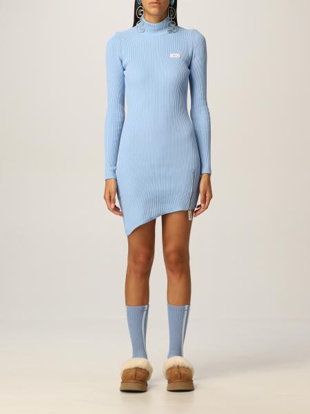 Gcds women: Gcds ribbed asymmetric dress