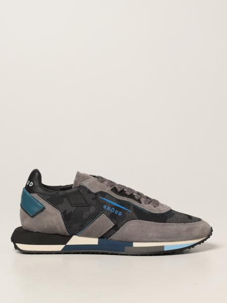 Sneakers Rush-M Ghoud in camoscio e mesh camouflage