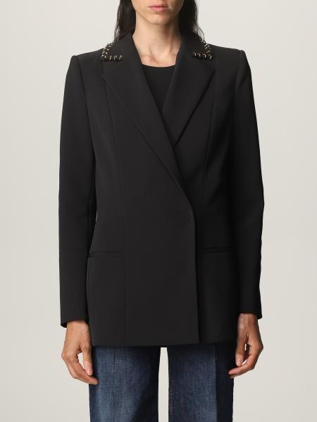 Elisabetta franchi double-breasted jacket in cady