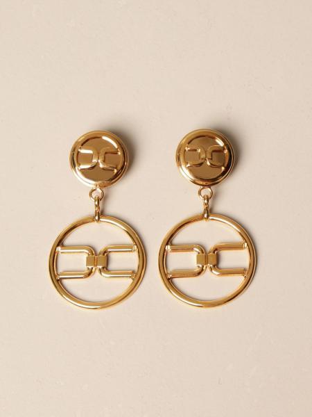 Elisabetta Franchi: Elisabetta Franchi pendant earrings with logo