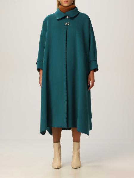 Alberta Ferretti donna: Cappotto a mantella Alberta Ferretti in lana vergine