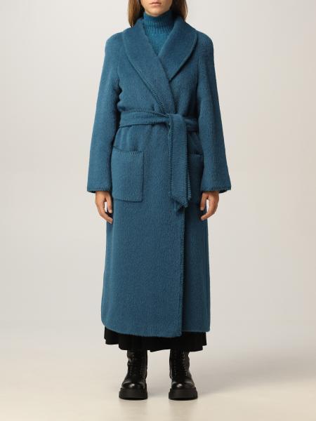 Alberta Ferretti donna: Cappotto lungo Alberta Ferretti in misto lana vergine
