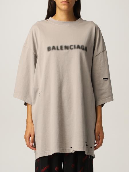 Balenciaga oversized cotton t-shirt with logo