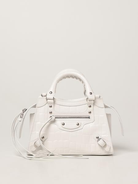 Balenciaga women: Neo Classic City mini Balenciaga bag in crocodile print leather