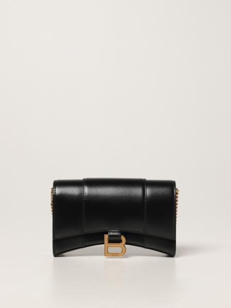 Balenciaga women: Balenciaga Hourglass bag in smooth leather