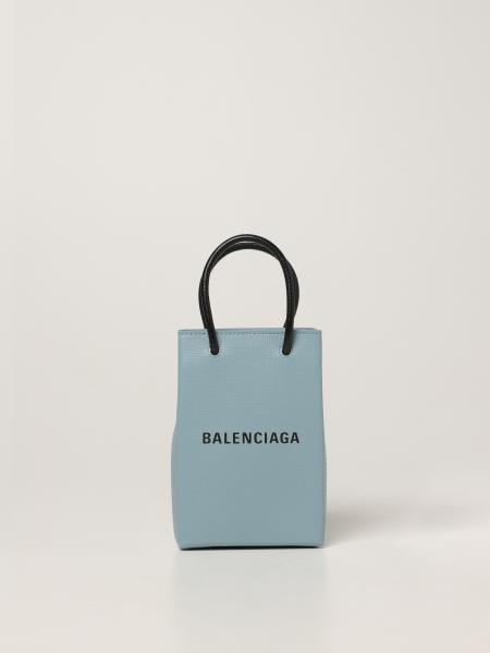 Balenciaga women: Balenciaga leather shopping bag