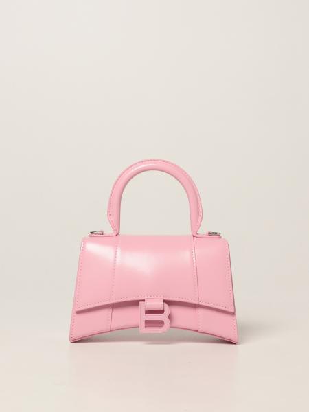 Balenciaga women: Hourglass top handle Xs Balenciaga bag in smooth leather