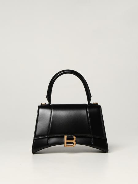 Balenciaga women: Balenciaga Hourglass top handle bag in smooth leather