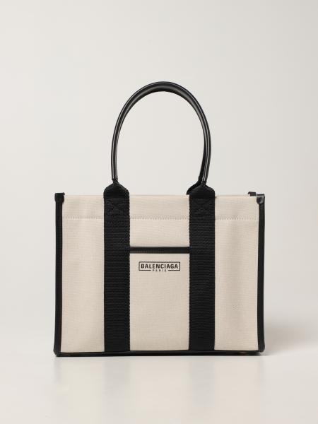 Balenciaga women: Neo Navy tote s / w Balenciaga bag in canvas with logo
