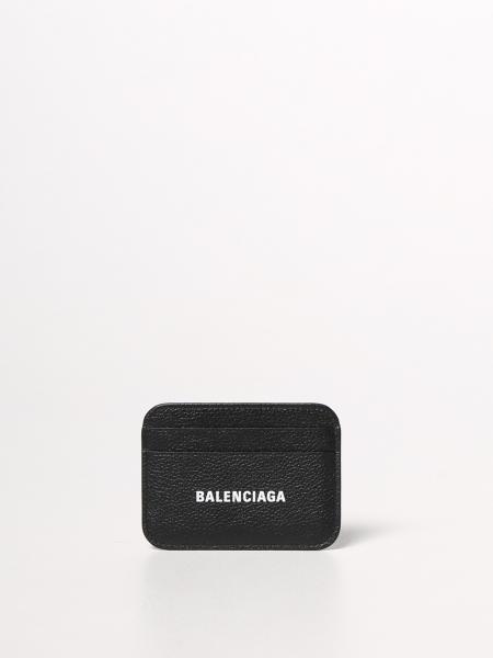 Balenciaga: Porta carte di credito Balenciaga in pelle martellata