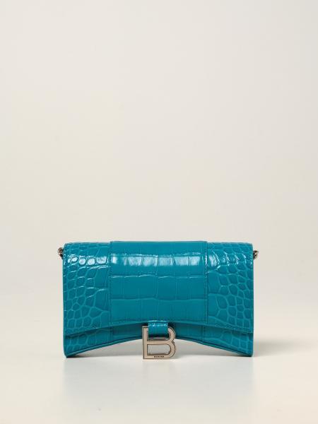Balenciaga women: Hour Glass Balenciaga wallet bag in calfskin