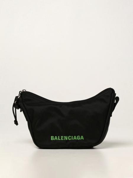 Balenciaga women: Balenciaga Wheel Sling bag in recycled nylon