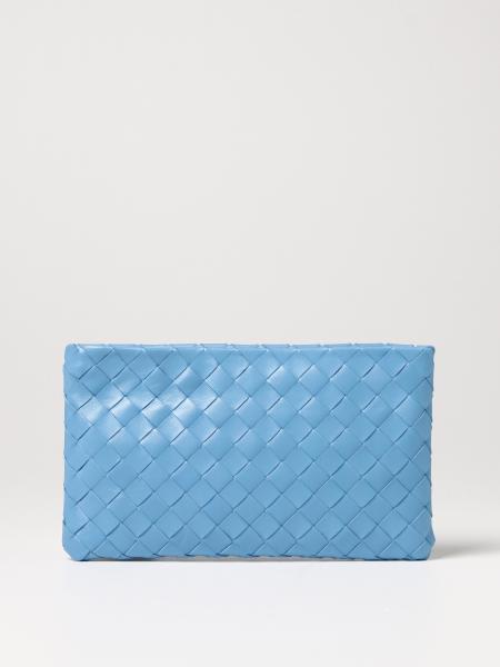 Bottega Veneta women: Bottega Veneta clutch bag in woven leather