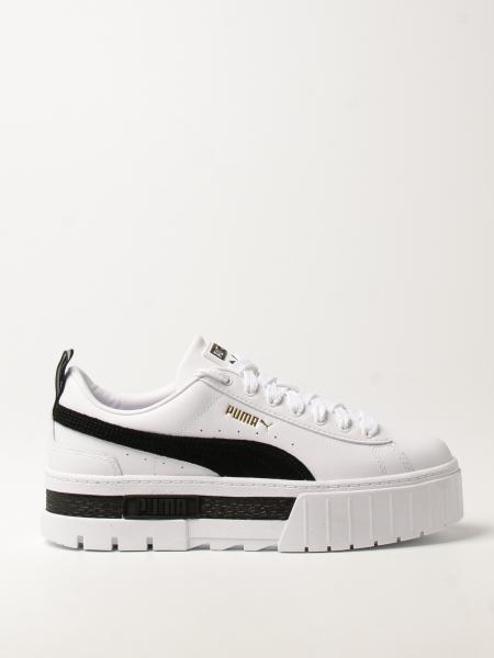 Puma: Sneakers Mayze Puma in pelle con logo