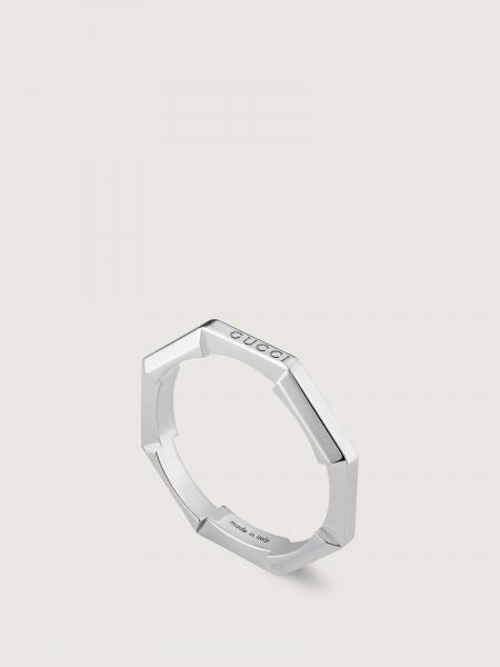 Gucci: L2l anello oro bianco 18kt - 3mm