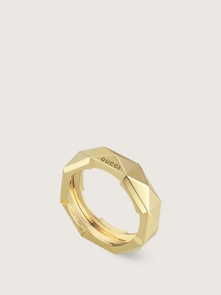 Gucci: L2l anello 18kt 6mm studded