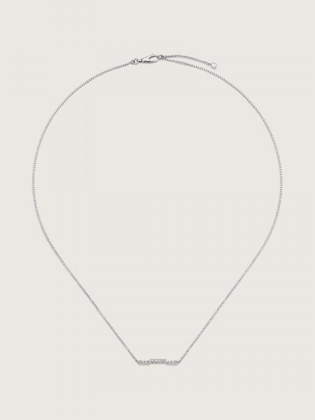Gucci: L2l necklace in 18kt white gold and diamonds - lenght 42-45 cm