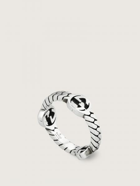 Gucci donna: Interlocking g band ring in sterling silver - band xs multi gg