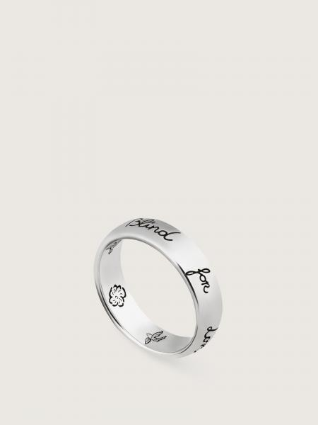 Gucci donna: Blind for love ring in shiny aged sterling silver