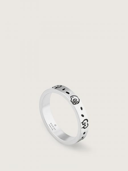 Gucci donna: Gucci ghost ring in shiny aged sterling silver