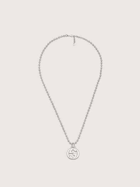 Gucci: Necklace with interlocking g pendant in sterling silver