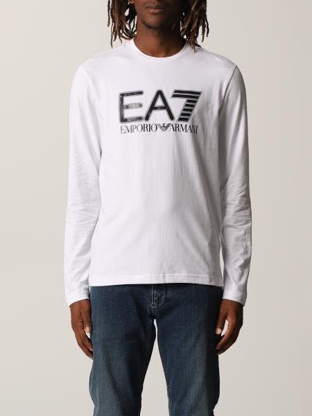 Ea7 uomo: Manica lunga girocollo con logo