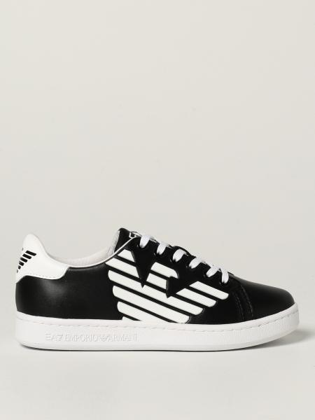 EA7 trainers in leather with logo