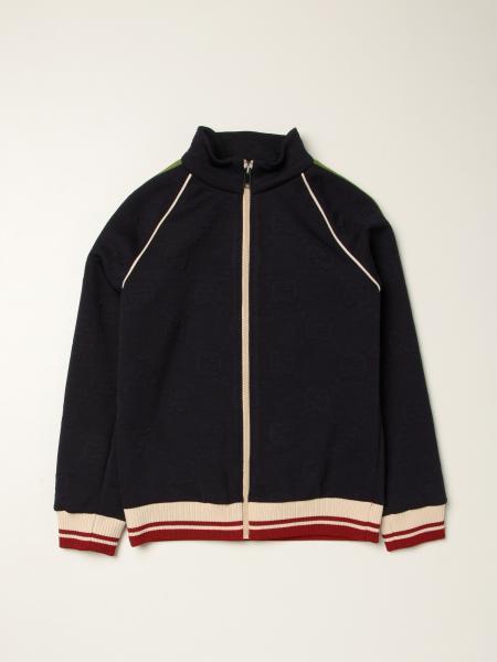 Gucci: Gucci zip jumper with GG jacquard motif