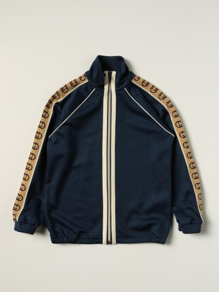 Gucci: Gucci zip jacket with all over GG bands