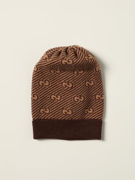 Gucci beanie hat in wool with all-over GG logo