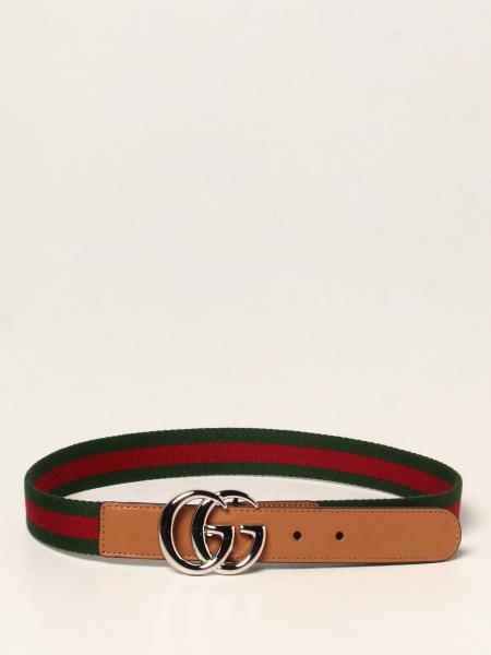 Gucci: Gucci leather belt with Web ribbon