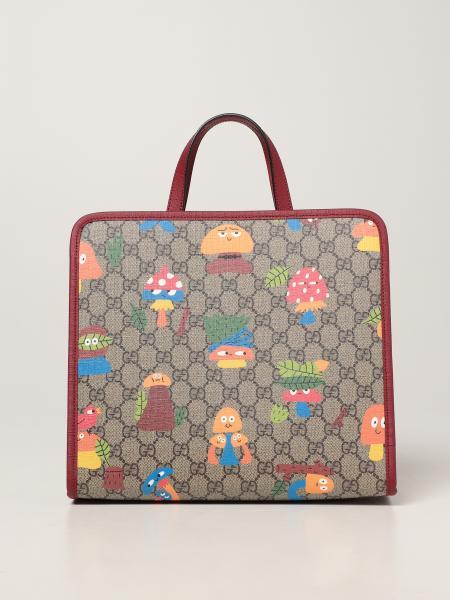 Gucci: Borsa Gucci in tessuto GG Supreme con funghi